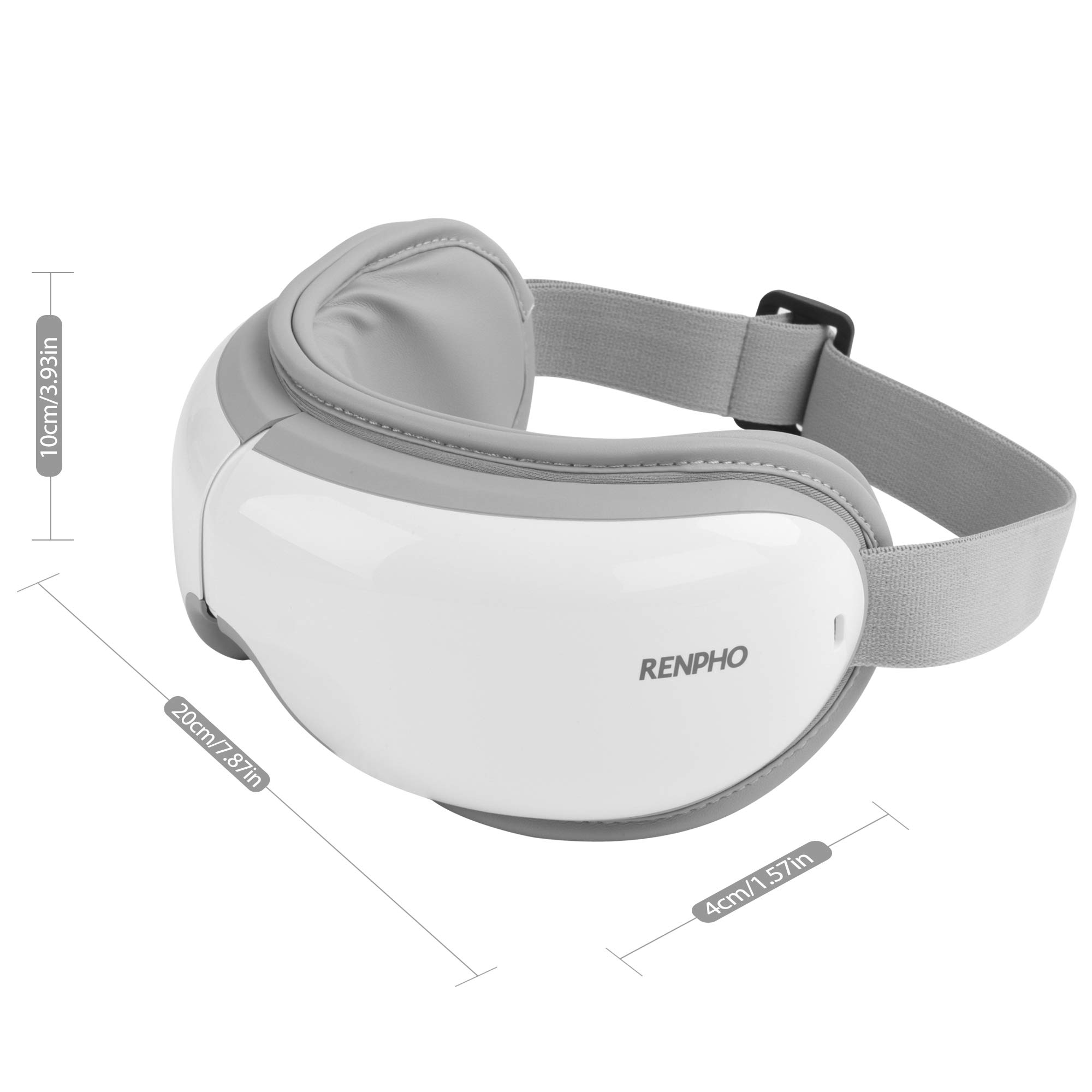 RENPHO Eye Massager with Heat,Air Compression Bluetooth Music Rechargeable Eye Therapy Massager for Relieve Eye Strain Dark Circles Eye Bags Dry Eye Improve Sleep by RENPHO