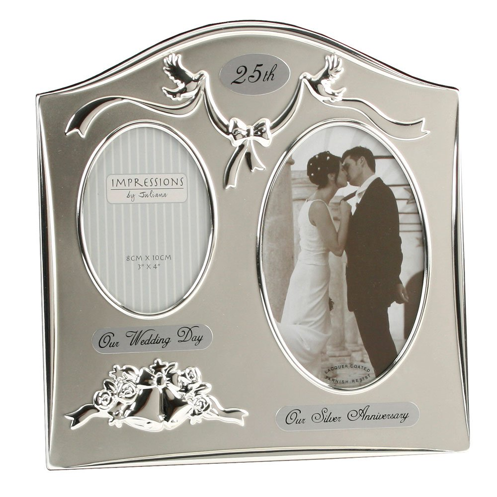 Amazoncom Two Tone Silverplated Wedding Anniversary Gift Photo