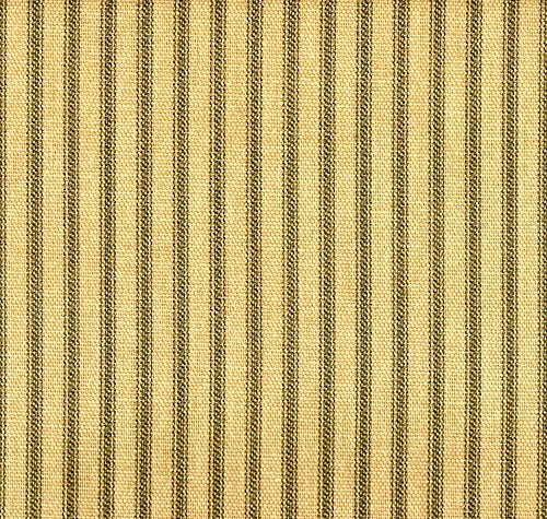French Country Ticking Stripe Document Green Bradford Valance with Gingham Check Back Layer