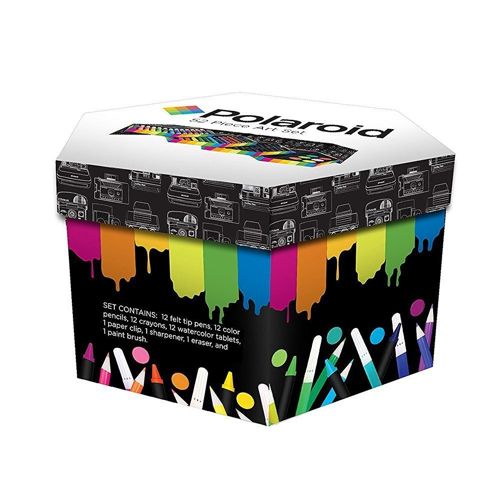 Polaroid Artists' Inspiration, Multilayered, Multi Purpose 52 Piece Organised Art Kit for school Stationery, Home and Leisure Use Style Asia Inc PDA001