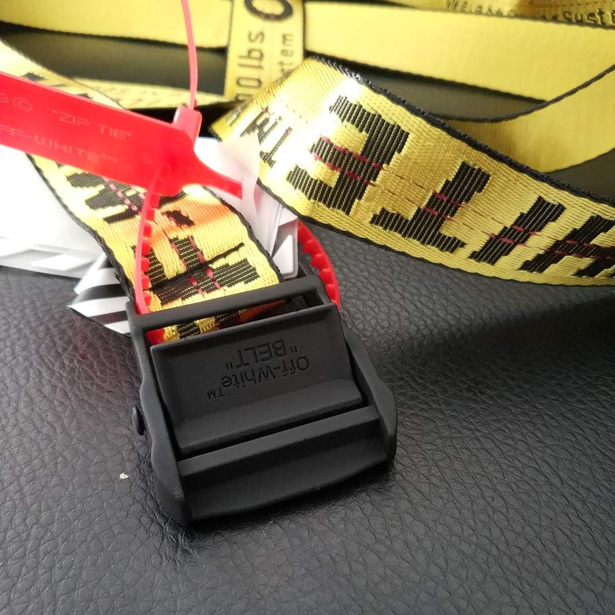 off white INDUSTRIAL belt adjustable designer belts casual braid belt 6.5ft length