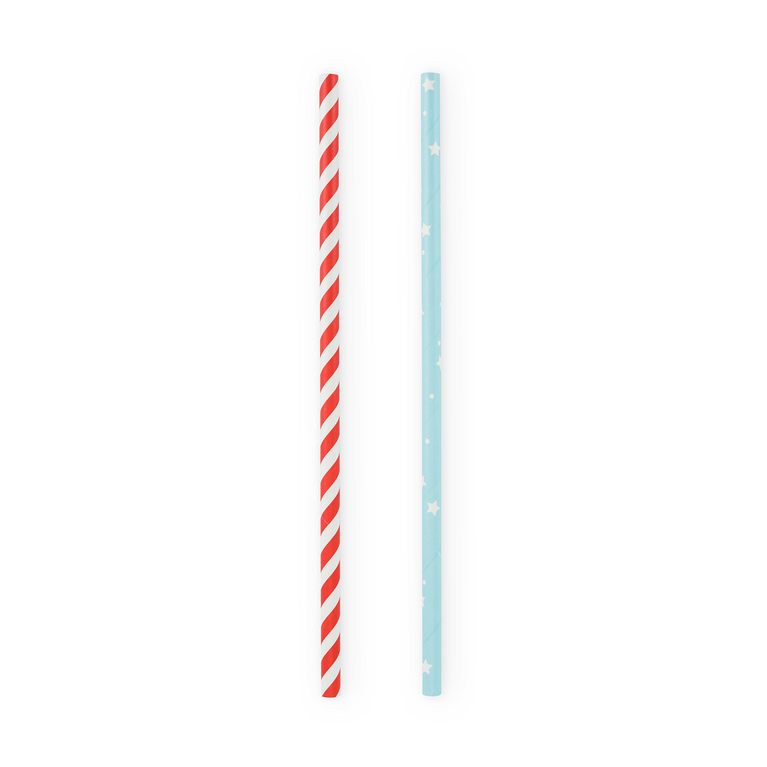 Cakewalk (Party) 6954 Assorted Stars and Stripes Straws, Multi Colored