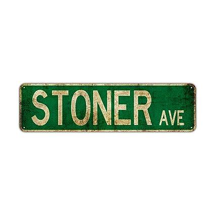 Cartel de aluminio de Stoner Avenue, estilo vintage, rústico ...