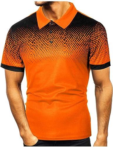 Sylar Polo Manga Corta para Hombre Camisetas Hombre Solapa Manga Corta Camisa Deporte con Botones Camisetas Golf T-Shirt Tops S/M/L/XL/XXL/XXXL: Amazon.es: Ropa y accesorios