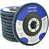amoolo 4 1/2 Flap Disc (10 Pack), T29 Zirconia Angle Grinder Sanding Disc (40 Grit), Abrasive Grinding Wheel (7/8 inch…
