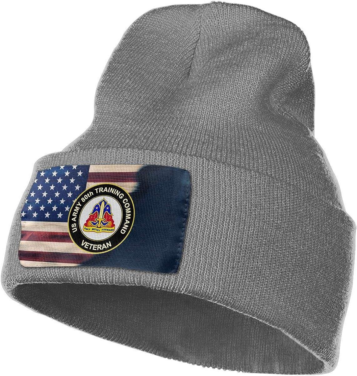 US Army 80th Training Command Veteran Mens Beanie Cap Skull Cap Winter Warm Knitting Hats.