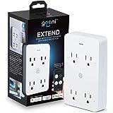 Geeni Smart Wi-Fi 4 enchufes con protección contra sobretensiones – No requiere concentrador – Compatible con Alexa, Google A