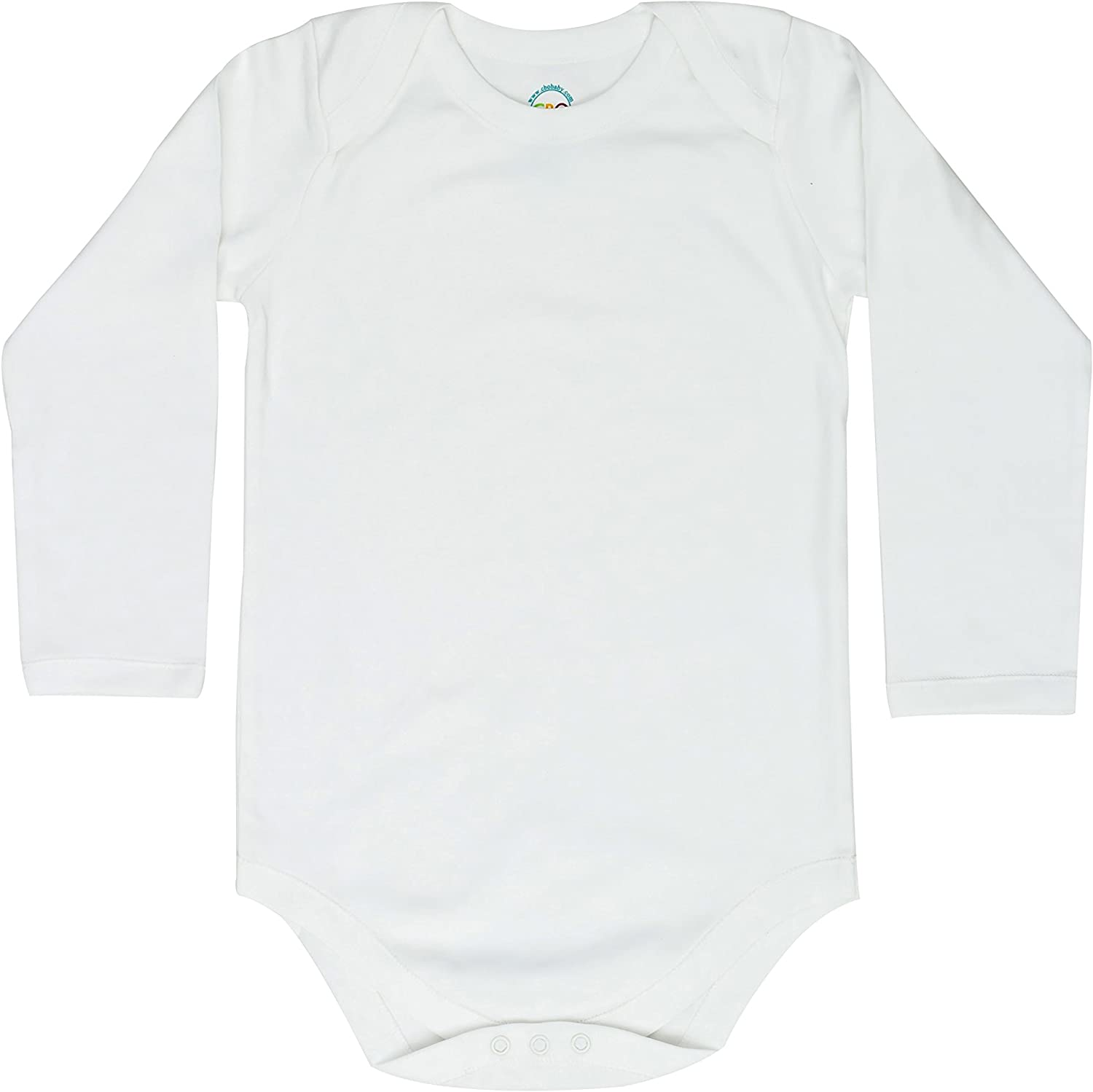 CBObabyLarge Size Long Sleeve Envelope Neck Bodysuit