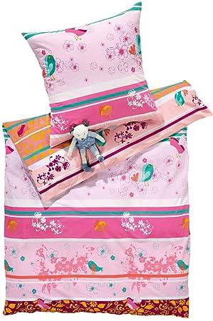 Meradiso Kinder Renforcé Bettwäsche 100 Baumwolle Rosa Pink