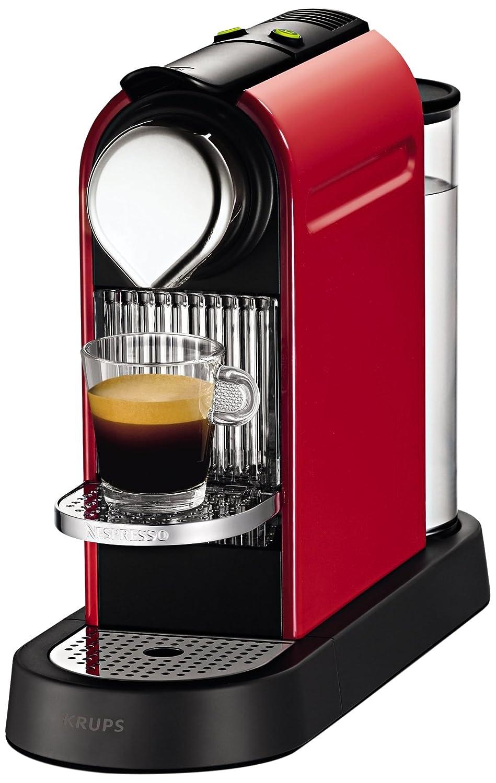 Krups YY1471FD Nespresso Citiz - Cafetera de monodosis, color rojo ...