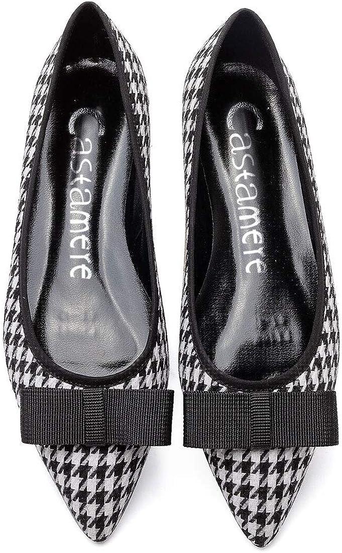 CASTAMERE Chaussures Plates Femme Bout Pointu Basse Talon N/œud Papillon Ballerines Escarpins