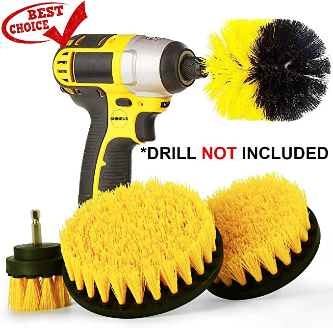 Drill Brush Attachment for Cleaning Cleaning Drill Brush Drill Brush Drill Brush Set Drill Brush Power Scrubber Drill Brush Attachment Carpet Drill Brush Drill Brush Kit