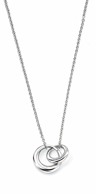 Elements Silver N2832 Ladies' Interlocking links Sterling Silver Necklace of 41 cm + 5 cm Extender yr9QSn