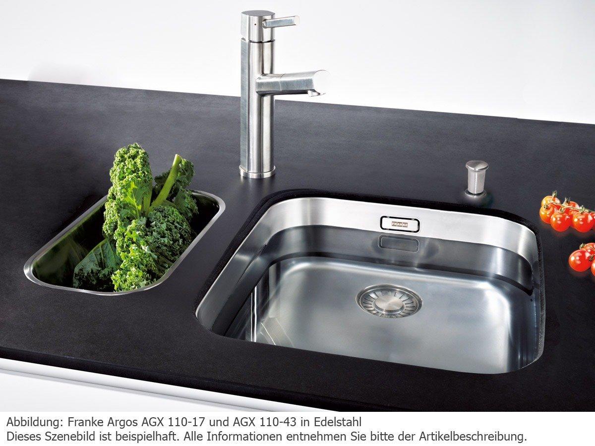 Franke /évier sous plan Argos AGX 110-43 acier inox lisse 1220199714