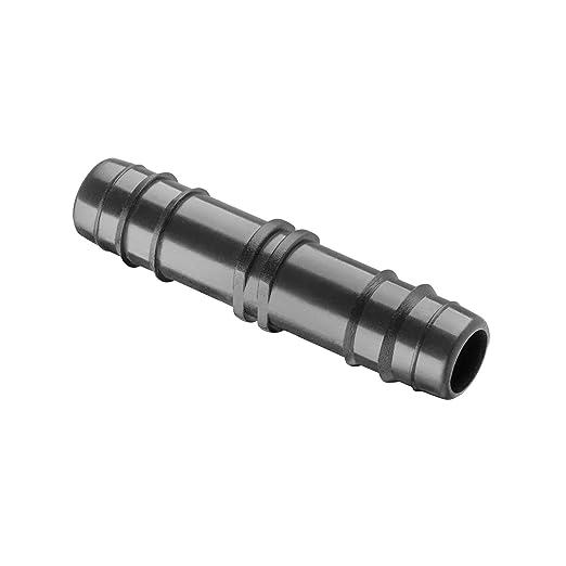 Manguito uni/ón para tubo de goteo di/ámetro 16 mm Color negro ENLACE GOTEO 16MM Pack 50 enlaces de riego. Suinga