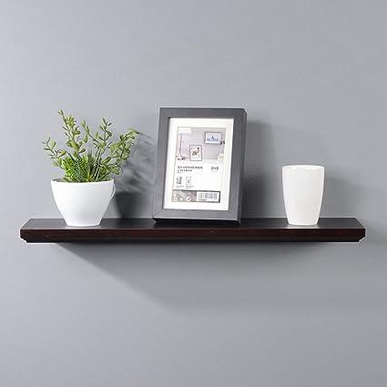 Interiorca Laminated Wood Floating Shelves Organizer, Decorative Wall  Mounted Shelf, White