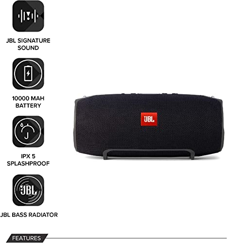 JBL Xtreme Portable Wireless Bluetooth Speaker Black – European Version