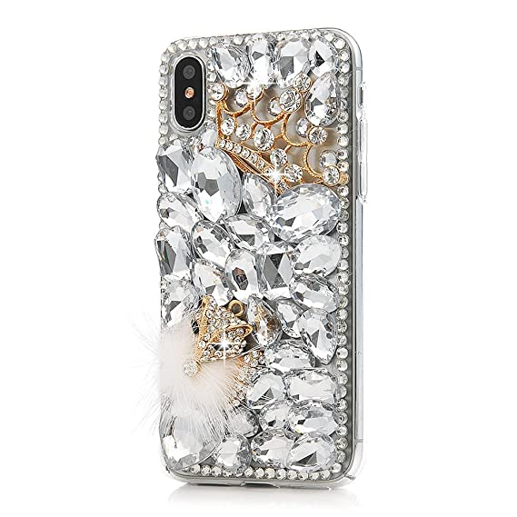 Amazon.com: iPhone X Case, Shinymore 3D Handmade Bling ...