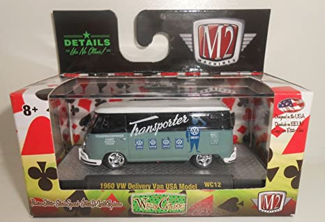 9a3d8ca621 Image Unavailable. Image not available for. Color  M2 Machines Wild Cards  Release 12 1 64 1960 VW Delivery Van USA Model