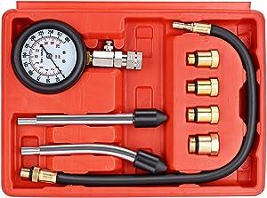 faersi Professional Compression Test Gauge Kit - Fuel Injection Pressure Tester Set - Engine Cylinder Diagnostic Compression Tester Set Automotive Tool Gauge