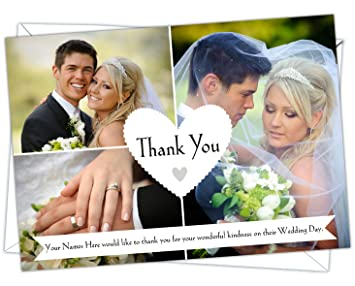 personalised wedding thank you cards wty 15 pack of 100 - Wedding Thank You Cards