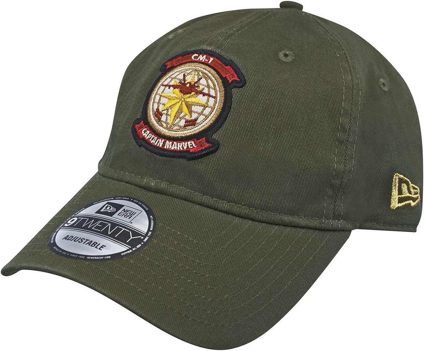 Captain Marvel Air Force Pilot 9Twenty Adjustable New Era Hat Green