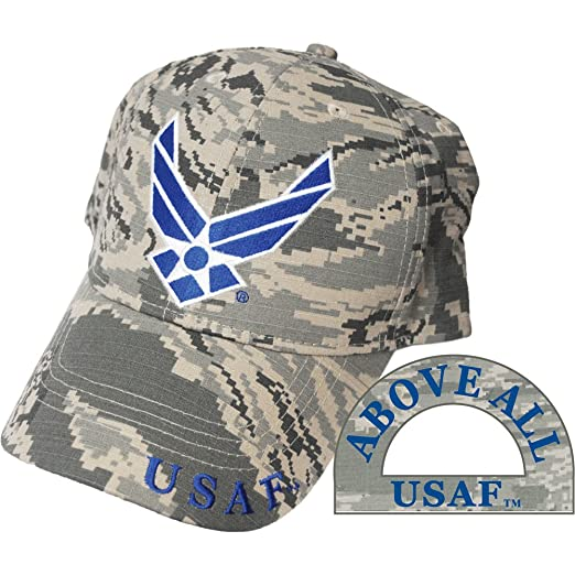 5cd8618f924 Amazon.com  United States Air Force Logo Camo Hat Cap USAF  Clothing