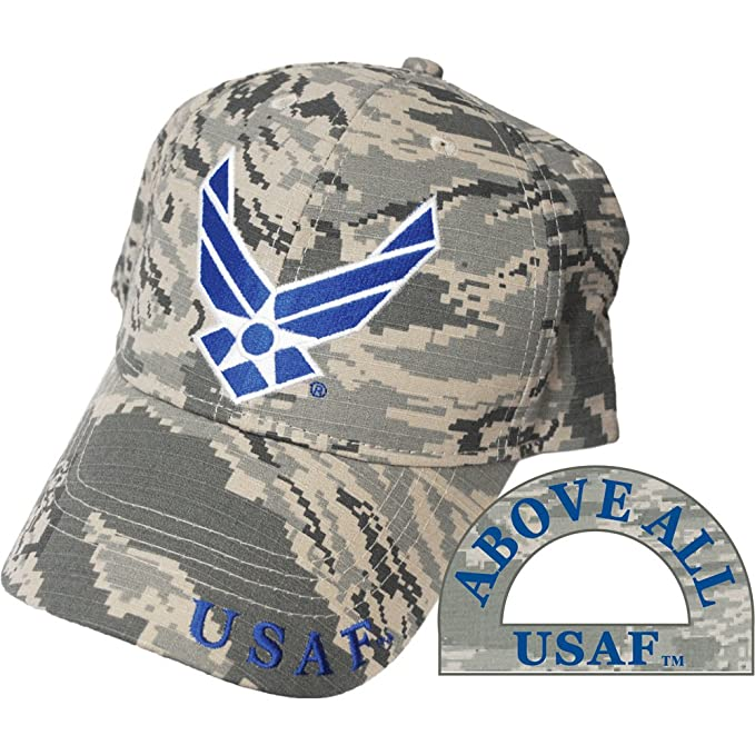 Amazon.com  United States Air Force Logo Camo Hat Cap USAF  Clothing d2dea27a40c