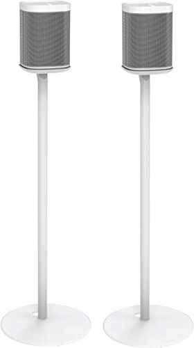 ynVISION Floor Stand for Sonos One, One SL, and Play 1 Speaker 2 Pack YN-ONE Pair White