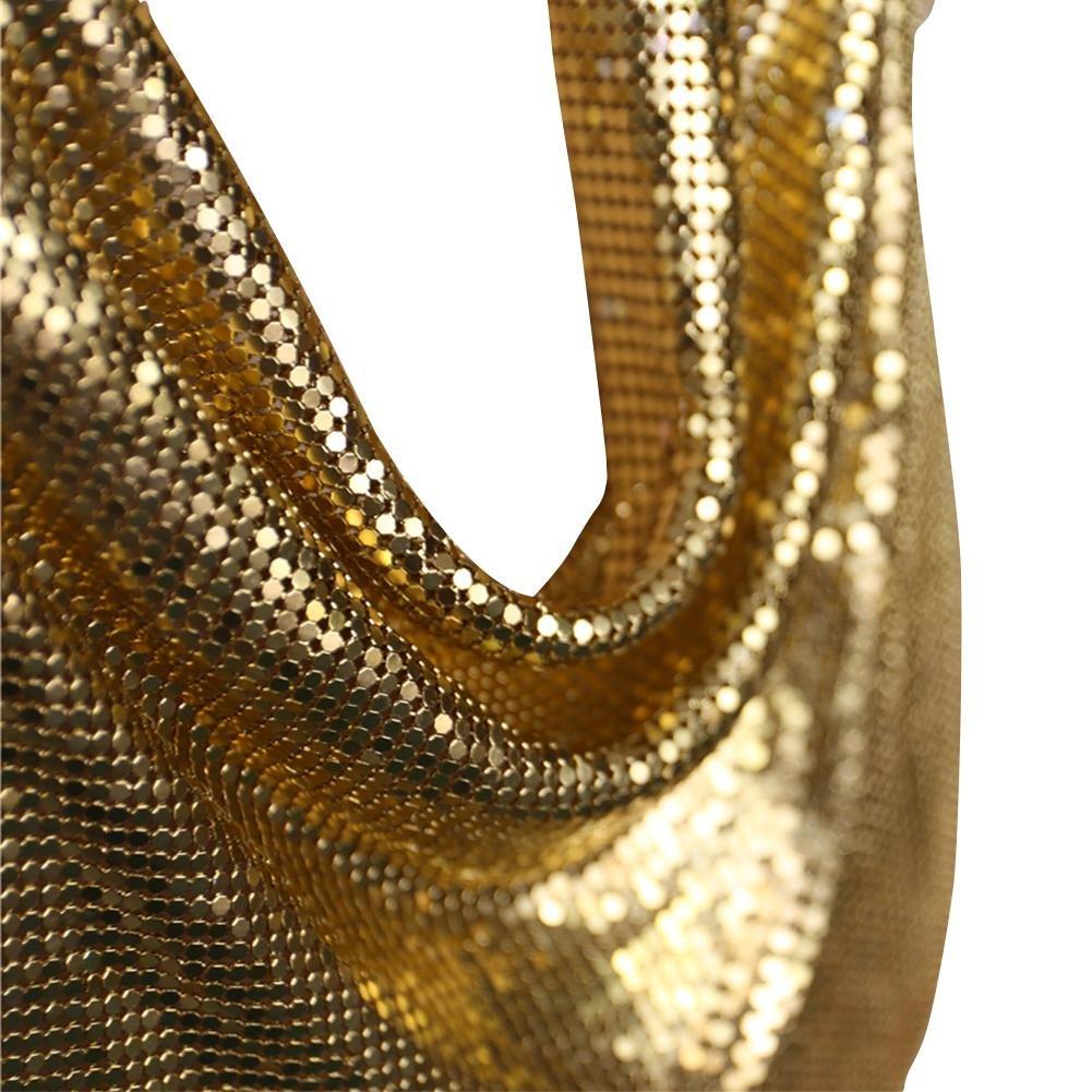 EFINNY Womens Summer Deep V Metal Alloys Clubwear Camisole Crop Tops 1-MA0655J