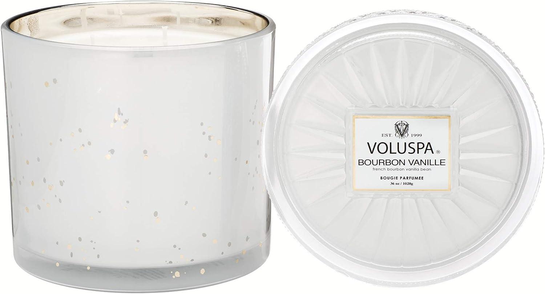 Voluspa Bourbon 2021new shipping free Vanille 3 Wick 36 Maison Candle Grande Max 40% OFF Ounces