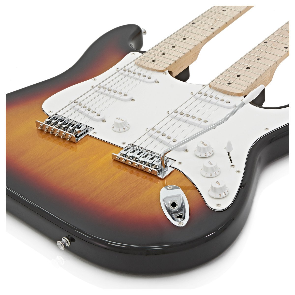 Guitarra LA de Doble Mástil de Gear4music - Sunburst: Amazon.es: Instrumentos musicales