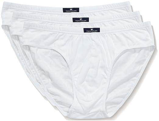 4cf8a15215 TOM TAILOR Underwear Herren Sport 3er Pack Slip, Weiss 1000, Small  (Herstellergröße: