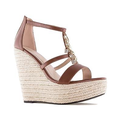 Chaussures Compensées en Soft et verroteries .pour Femmes.Petites et  Grandes Pointures 32 35 et 42 45  Amazon.fr  Chaussures et Sacs 5fb9408b6a47