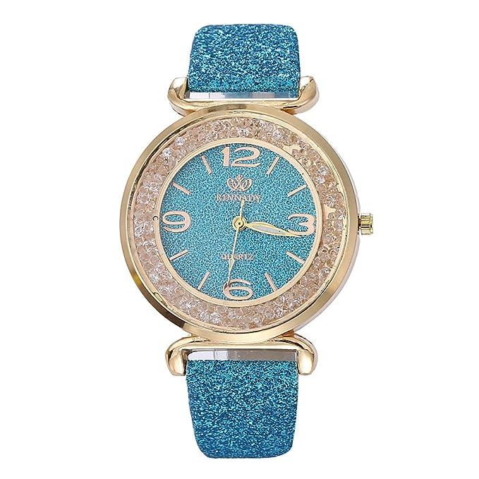 Yvelands Liquidación Moda Mujeres Cristal Acero Inoxidable Reloj de Pulsera de Cuarzo analógico (tamaño Libre