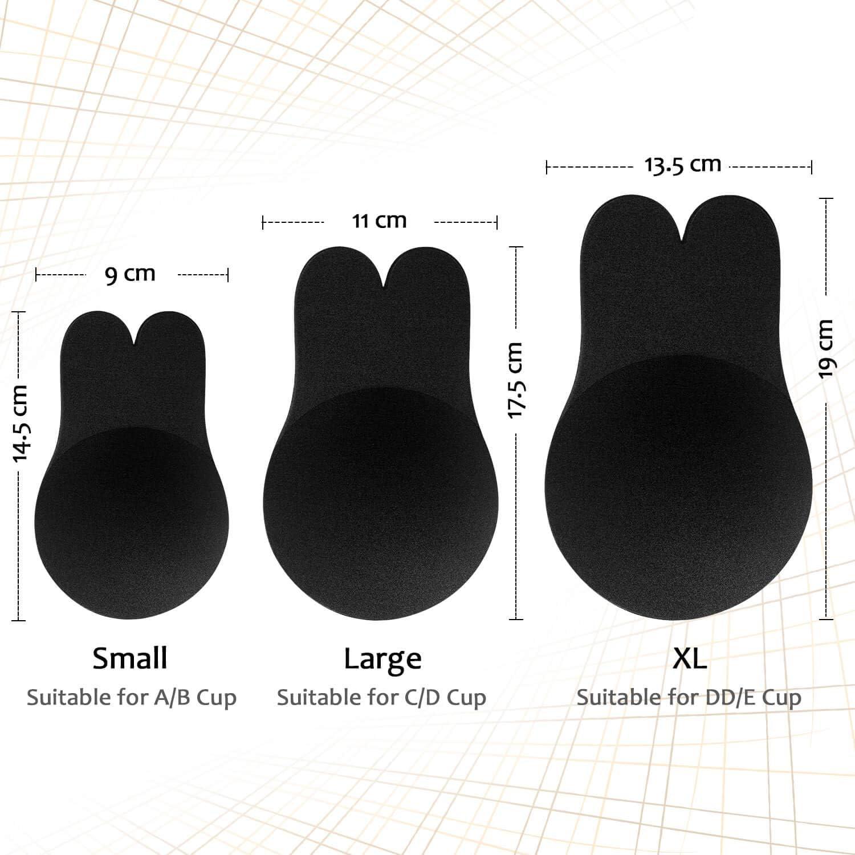 Nippel Cover Unsichtbarer Brust Lift Up Adhesive Pasties Aufkleber Tr/ägerloser R/ückenfrei Lifting Bra B/üstenhalter MIMEIMIAI Klebe BH Push Up