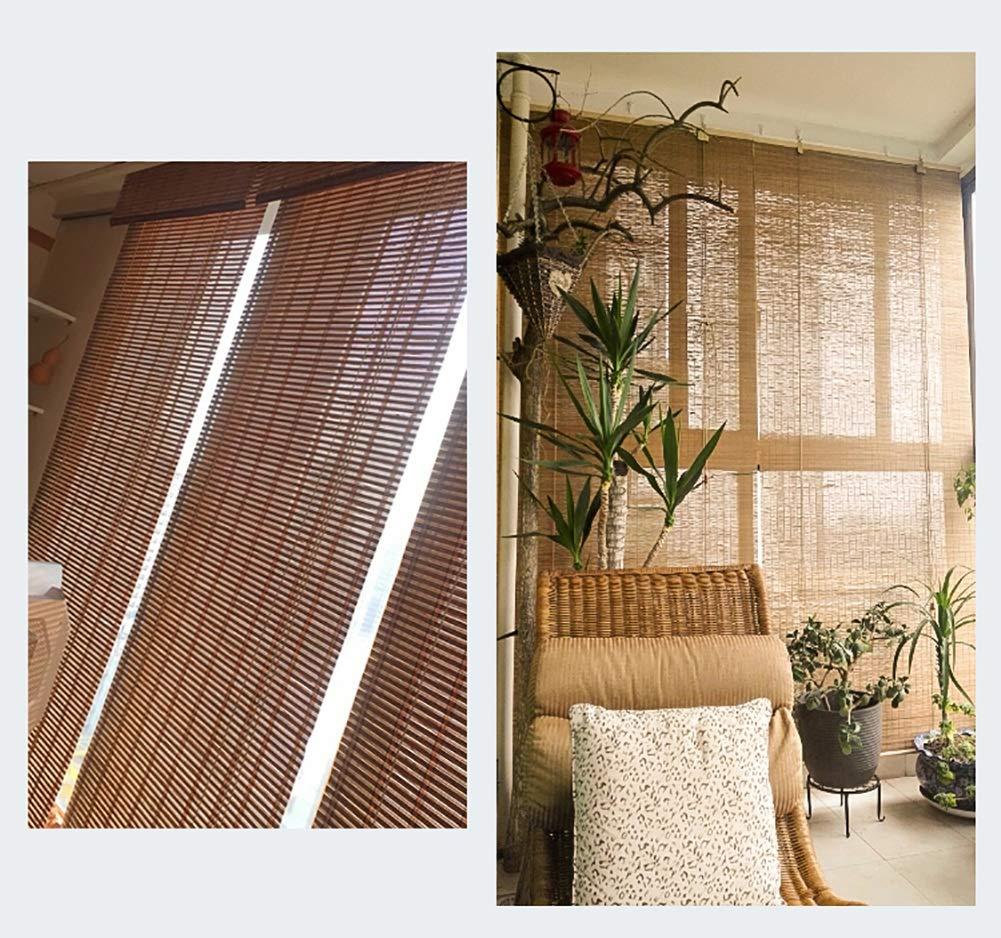 Bambusrollo- Braun Raffrollo Bambus-Roll-Up Jalousie Indoor Fenster Fenster Fenster Sichtschutz Rollos Sonnenschutz 60% (Alle Größen  45-130 cm breit und 80-200 cm hoch) (größe   120x200cm) B07NVK8VPY Raffrollos 55348c