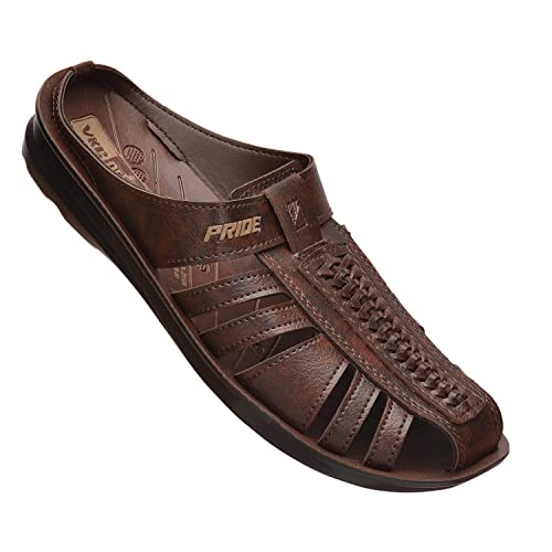 Brown Synthetic Leather Sandal