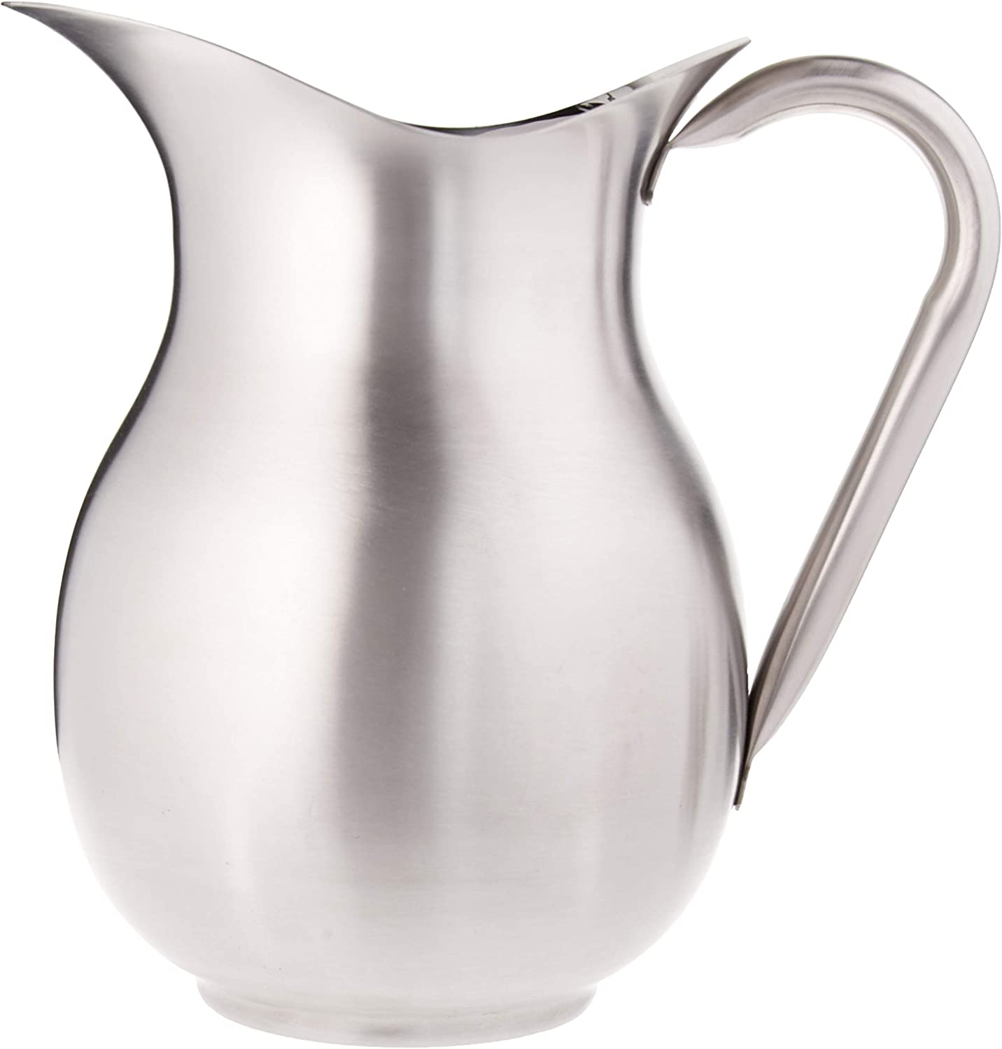 Vollrath 3-Quart Bell-Shaped Water Pitcher, Stainless Steel