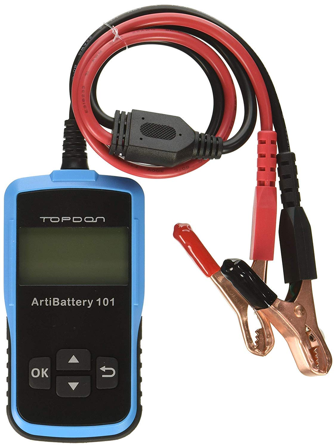 Car Battery Tester,TT TOPDON AB101 Automotive Battery Load Tester on Cranking System,Charging System and Battery System with 100-2000 CCA for 12V Car and Light Truck