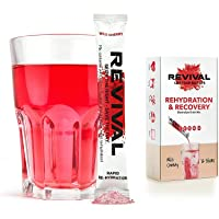 Revival Hydration Electrolyte Powder Packets, Recovery Drink Mix Supplement - Hangover, Sport, Health, Travel - Cherry 30 Pack