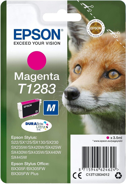 Epson C13t12834022 Magenta Original Tintenpatronen Pack Of 1 Bürobedarf Schreibwaren