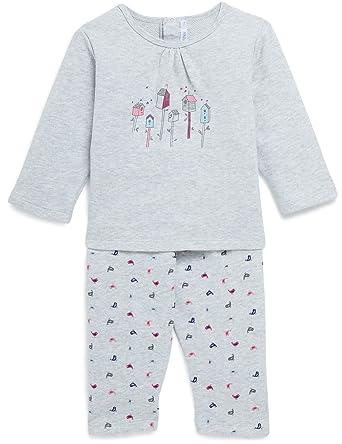 1177c1a596ea9 Bout Chou - Pyjama en molleton imprimé oiseaux - Bébé Fille - Taille   18