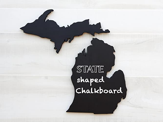 Amazoncom Michigan State Map Chalkboard Message Board Additional - Us-map-michigan-state