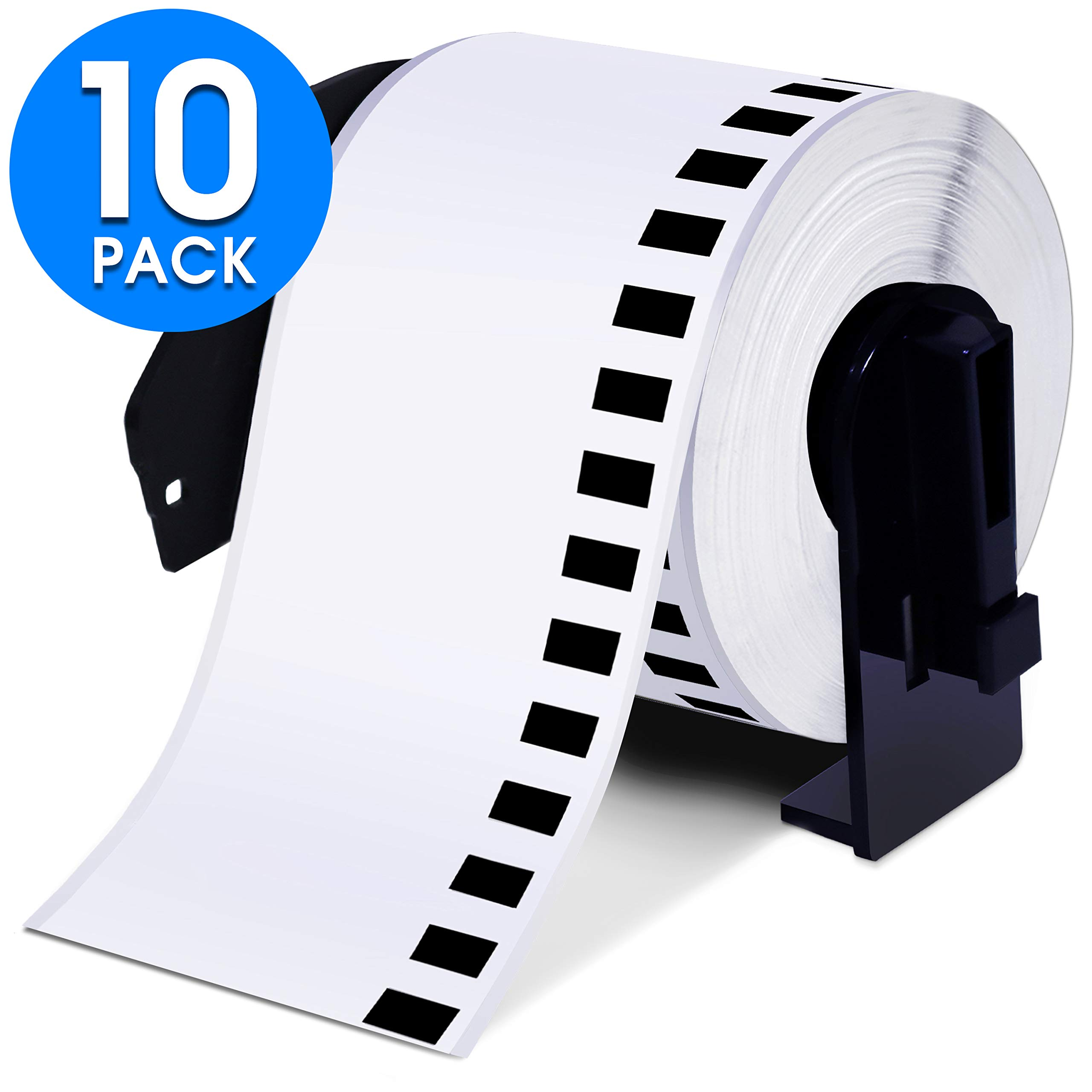 Aegis Adhesives - Compatible DK-2205 Continuous Paper Tape (2.4'' X 100 Ft.) Replacement Labels, Compatible with Brother QL Printers - 10 Frames Included by Aegis Adhesives