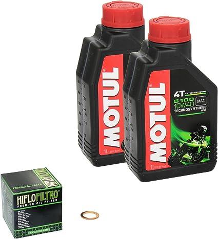 Motul 5100 10w 40 Ölwechsel Set Honda Vt 125 C Shadow Bj 01 08 Motoröl Hiflo Ölfilter Und Dichtring Auto