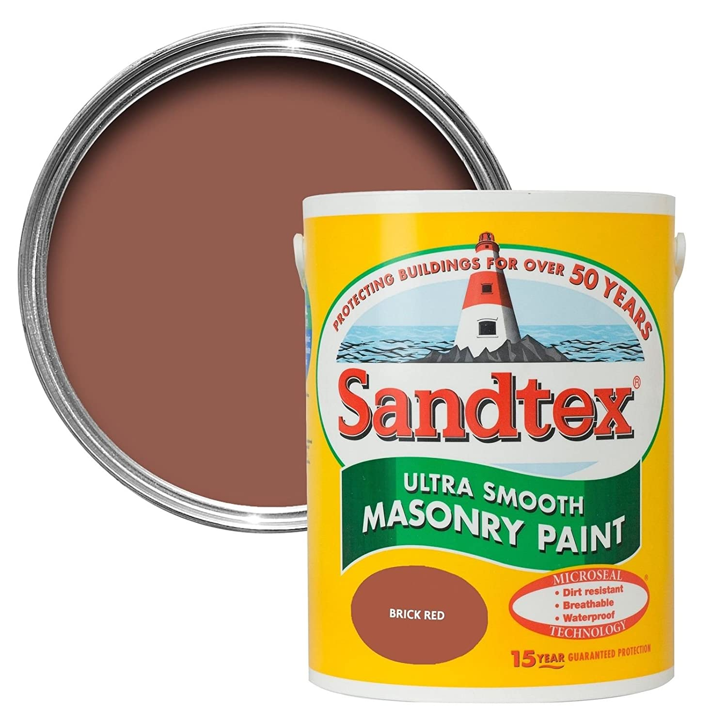Sandtex 5090071  Peinture exté rieure, Brique rouge Crown Paints