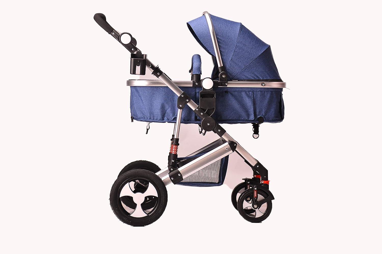 Blue Pram Only or add car seat Kids Pram Travel System 2 in 1 Combi Stroller Buggy Baby Child Pushchair
