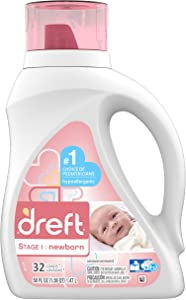 Dreft Stage 1: Newborn Liquid Detergent (HEC): 50oz 32 Loads (Packaging May Vary)