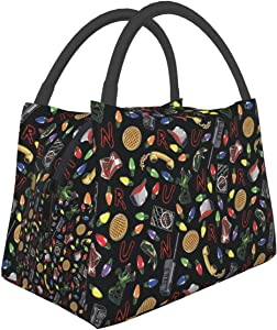 Stranger Things Lunch Bag Tote Bag Lunch Bag for Men Women Lunch Box Reusable Insulated Lunch Container Work Pinic or Travel
